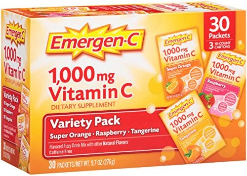 Emergen-C, Variety Pack, 1,000mg, 9.7 oz, 30 Count by Emergen-C: Amazon.es: Salud y cuidado personal