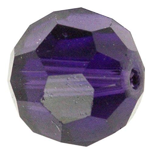 50 10mm Adabele Austrian Round Crystal Beads Purple Velvet Alternative For Swarovski Preciosa Crystalized Beads 5000 - Velvet Crystal Beads