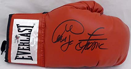 f10e9a677e8 George Foreman Signed Auto Red Everlast Boxing Glove RH Signed In ...