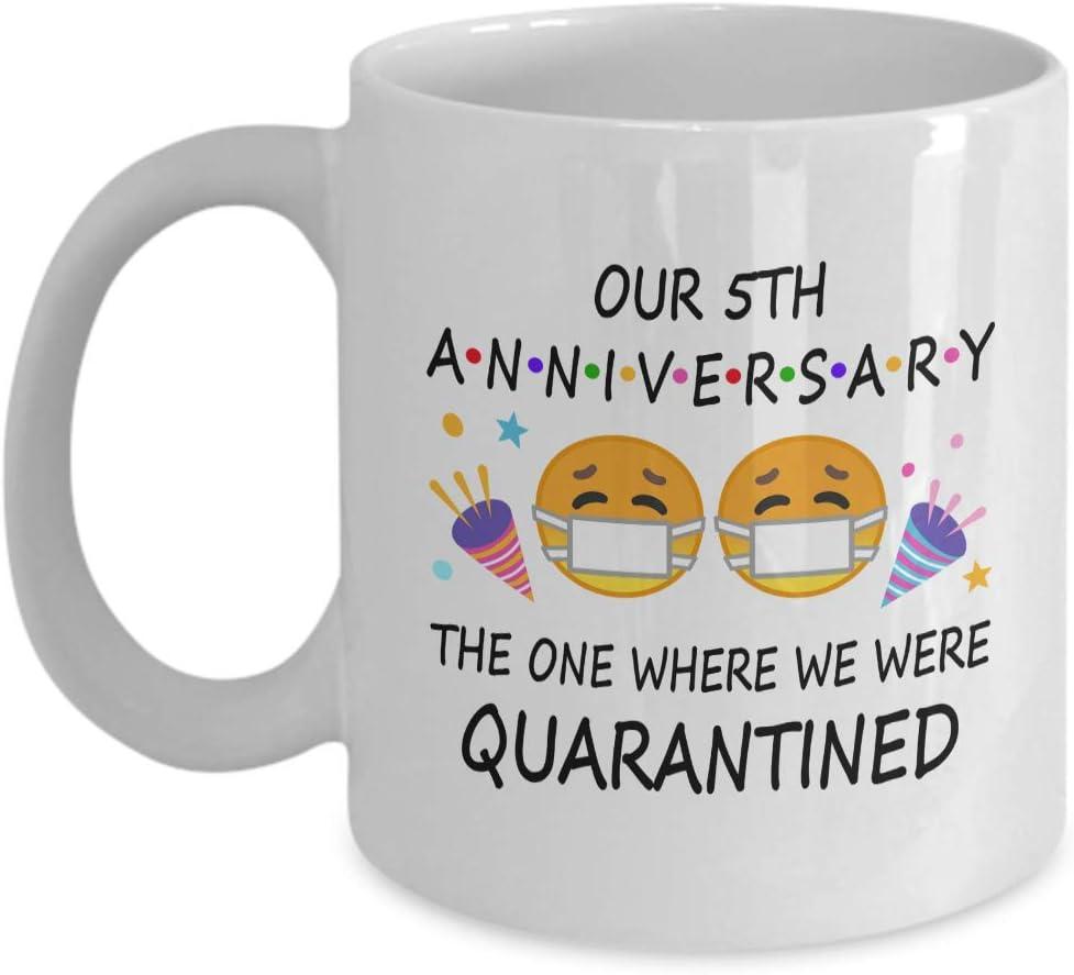 Our 5th Anniversary The One Where We Were Quarantined Mug 5th Wedding