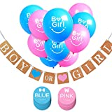 Gender Reveal Party & Baby Shower Party Decorations, Boy or Girl Banner, Balloons & Stickers, Pregnancy Announcement