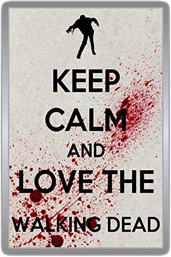 Keep Calm And Love The Walking Dead - Fridge Magnet (Grey) (Standard   70x45mm)  Amazon.co.uk  Kitchen   Home b8dae4006e