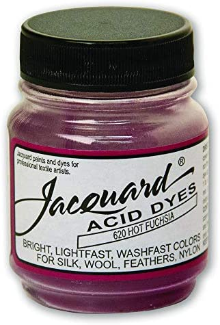 Jacquard Acid Dye for Wool Silk and Other Protein Fibers 1/2 Ounce Jar Concentrated Powder Hot Fuchsia 620
