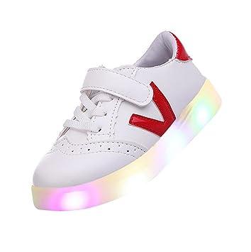 zapatos bebe niño invierno LED, Sannysis Zapatillas de skate para niños LED Zapatos bebés Light