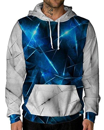 Into The AM Cataclysmic Long Sleeve Hoodie Sweatshirt (3X-Large) Fleece Microfiber Sweater
