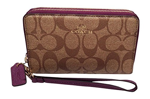 Coach Double Phone Wallet Khaki