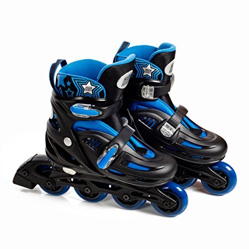 High Bounce Adjustable Inline Skate (Blue, Large (6-9) ABEC 7) by High Bounce (Image #4)