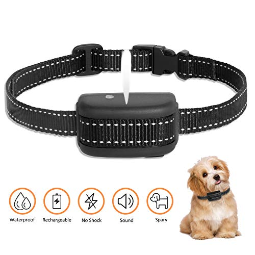 Zeonetak Rechargeable Spray Bark Collar,Dog Bark Collar Stop Barking Collar for Dogs Small Medium Large,Adjustable Waterproof, No Shock, Harmless & Humane (Dog Collars With Water Spray)