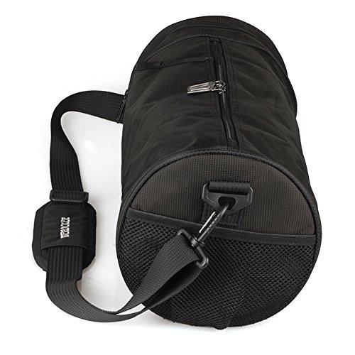 Bolso oblicuo del hombro del deporte de los hombres/bolsos del totalizador/bolsa de gimnasia-Negro Negro