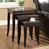 Coaster Nesting Table-Zebra Print For Sale