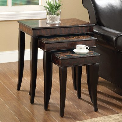Coaster Nesting Table-Zebra Print