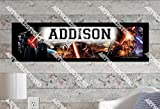Star War: The Force Awakens - 10'x32' Personalized Name Poster with Border Mat, Customize Name Sign, Birthday Party Banner