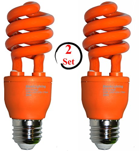 sleeklighting 13 watt orange spiral cfl light bulb 120volt e26 medium base of ebay. Black Bedroom Furniture Sets. Home Design Ideas