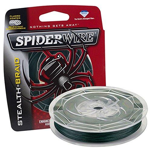 Spiderwire Braided Stealth Superline (125-Yard/30-Pound (4 Pack), Moss Green)
