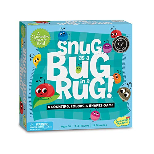 (Peaceable Kingdom Snug as a Bug in a Rug Award Winning Preschool Skills Builder Game for Kids)