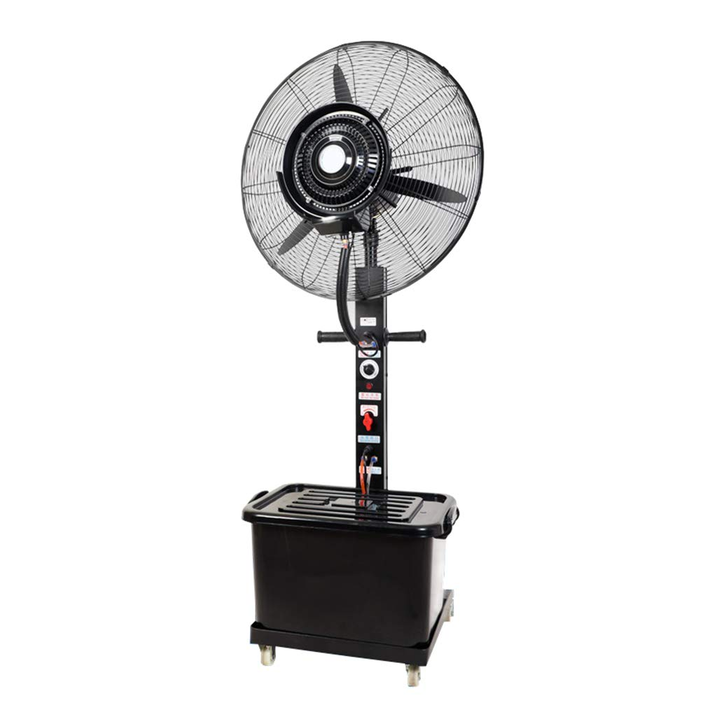 Standing Pedestal Fan Outdoor Misting Fan Oscillating Pedestal Fan Cooling Misting Spray 3-Speed/41L Water Tank Large for Industrial, Commercial, Residential, and Greenhouse (Black) by LLZ-Fan