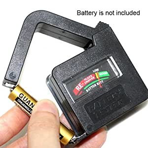 Mini Battery Tester Suitable for AAA, AA, C, D, PP3 and 3R12 Size Batteries