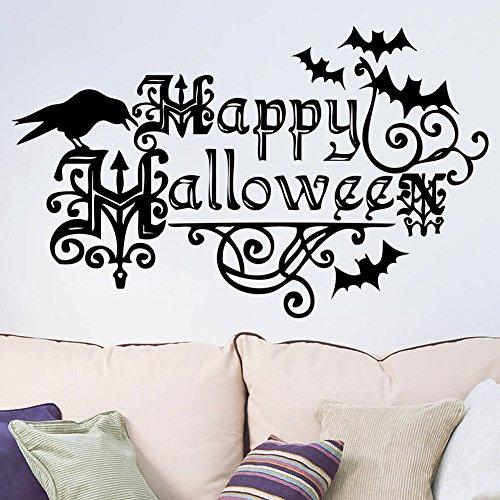 Smartcoco DIY Creative Happy Halloween Wall Sticker Vivid Wall Decals Kid Room Living Room Bedroom Halloween Decors 57x35cm