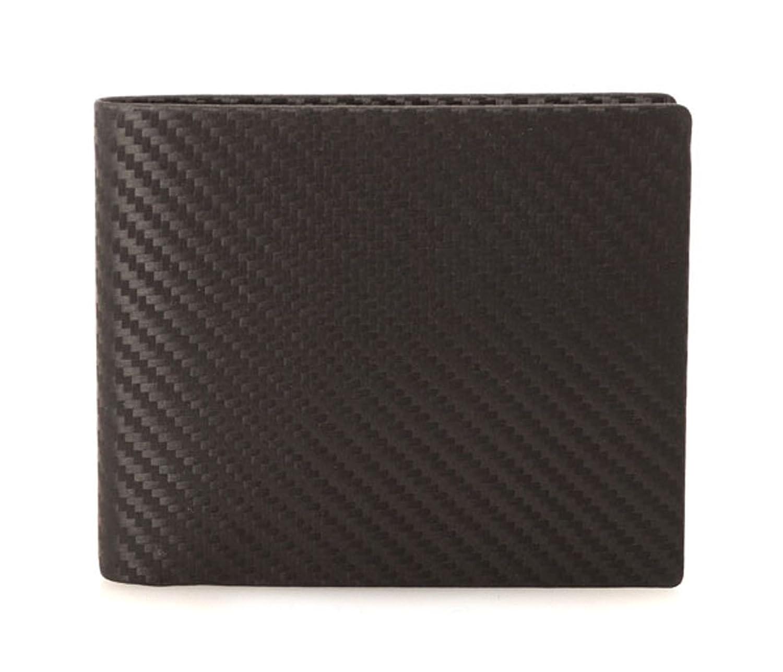 (ダンヒル)dunhill CHASSIS 二つ折り財布(小銭入れ無)l2h230a (カーボン) B00CMP587G