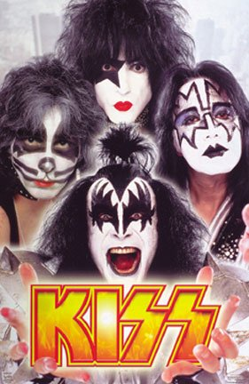 KISS POSTER - FAMOUS CLOSE UP GROUP HEAD SHOTS - NEW