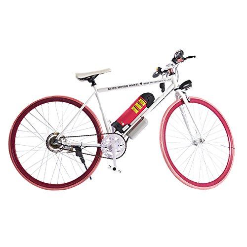 ELECTRIC Fixie Bike 350W 33MPH Alien Motor Wheels TM (WHITE/BABY PINK/CHERRY/HOT PINK)