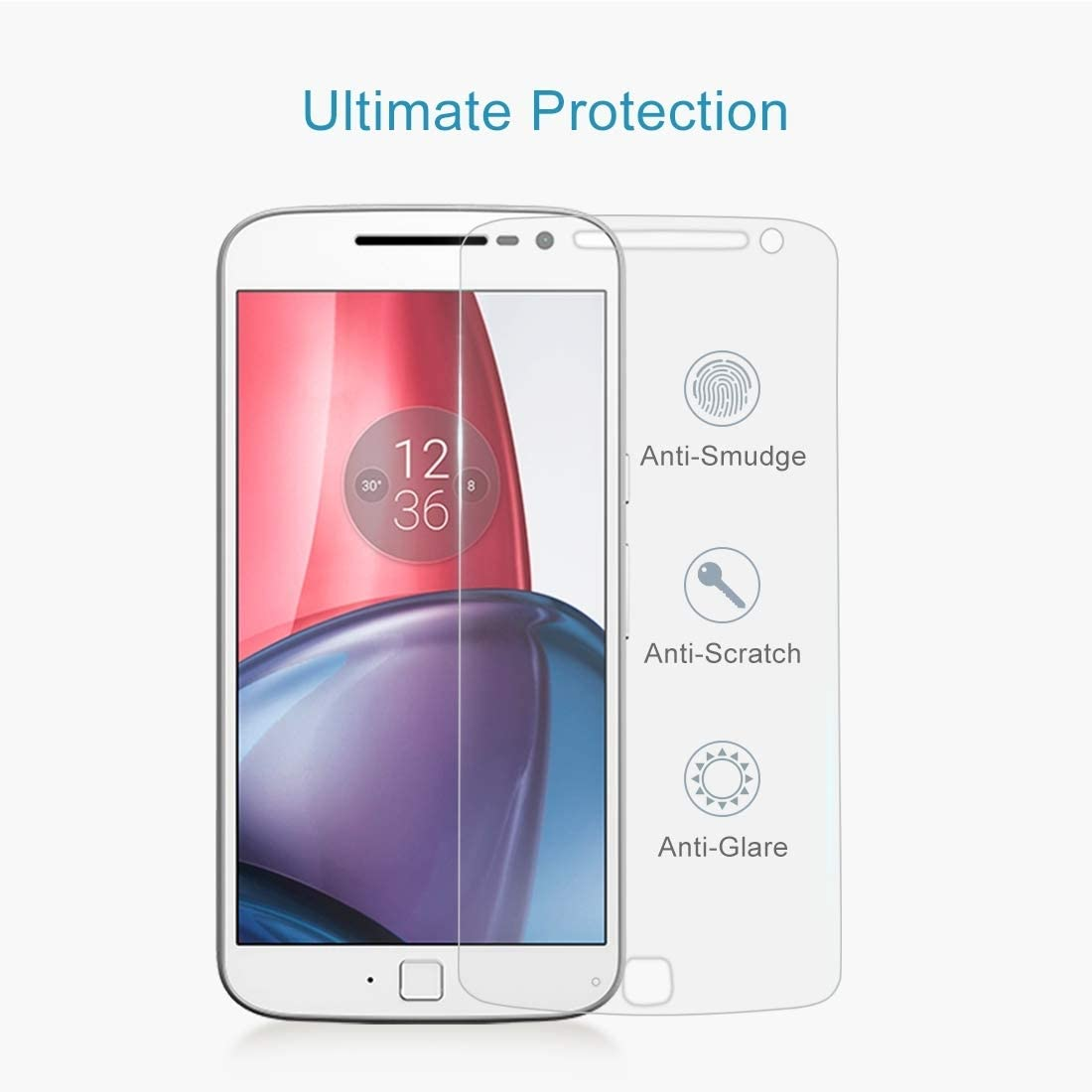 50 PCS for Motorola Moto G4 Plus 0.3mm 9H Surface Hardness 2.5D Explosion-Proof Non-Full Screen Tempered Glass Screen Film No Retail Package Clear YINZHI Screen Protector Film