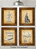 Original Disney Rides Patent Art Prints - Set of Four Photos (8x10) Unframed - Great Gift for Disney Fans