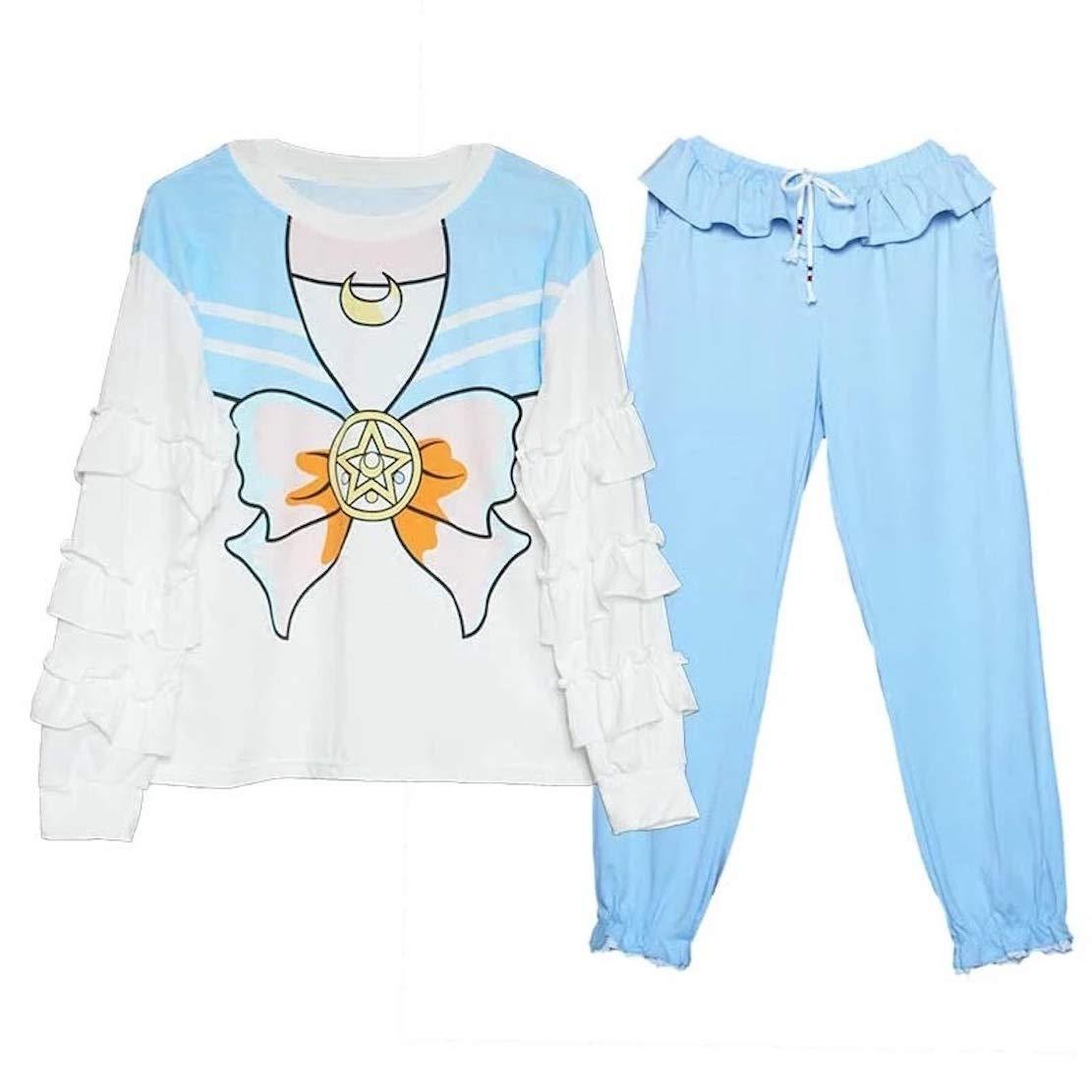 Juego de Pijama con diseño de Sailor Moon, Camiseta, Traje ...