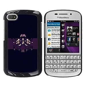 Caucho caso de Shell duro de la cubierta de accesorios de protección BY RAYDREAMMM - BlackBerry Q10 - Elvis