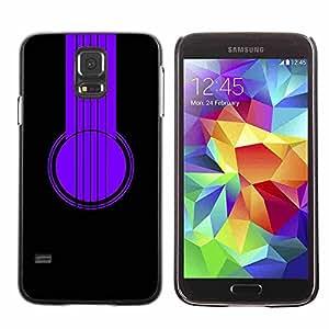 Shell-Star ( Purple Headphones ) Fundas Cover Cubre Hard Case Cover para Samsung Galaxy S5 V SM-G900