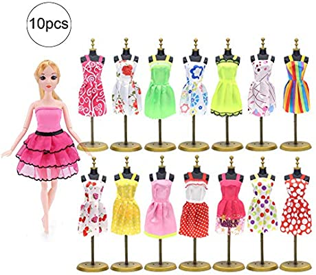 JingYuan 10pcs Ropa para Vestidos Barbie Party Doll Vestidos ...