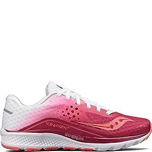 Saucony Women's Kinvara 8 Running Shoe, Berry White, 10.5 Medium US