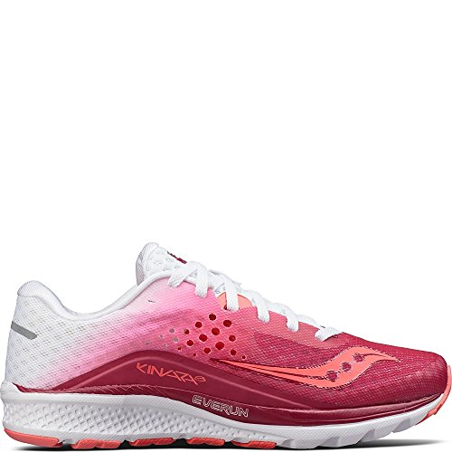 Saucony Women's Kinvara 8 Running Shoe, Berry White, 7.5 Medium - White Saucony Shoes