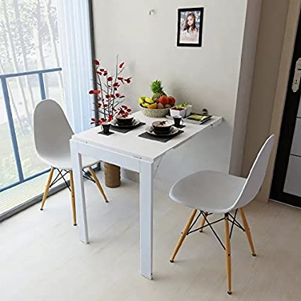 Etonnant Amazon.com: Isasar Wall Mounted Folding Table Space Saver Fold Out  Convertible Desk (White): Kitchen U0026 Dining