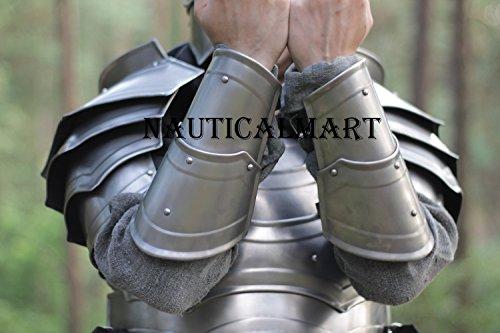 NAUTICALMART Pair of Bracers Steel Bracers Larp Bracers Cosplay Bracers Arm by NAUTICALMART