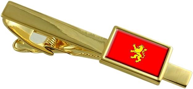 Select Gifts Zaragoza Ciudad Bandera España Clip de Corbata de Oro Personalizado Grabado: Amazon.es: Joyería
