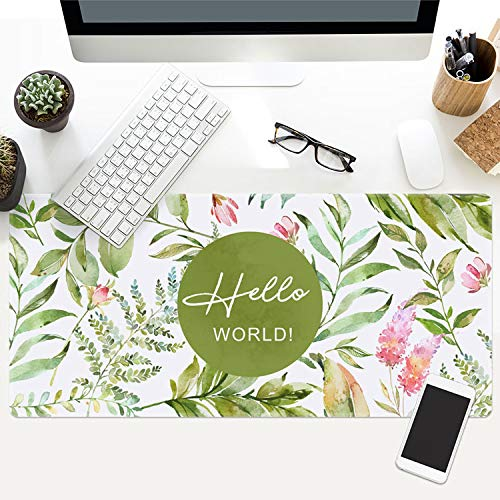 Ins Plant Series Game Mouse pad Large Thick Waterproof Office Notebook Table mat, - 9300 Series Notebooks