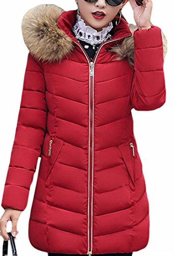today UK Fur Down Parka Hooded Faux Coat Coat Puffer Winter Womens 1 Cotton x1xOHrdnt