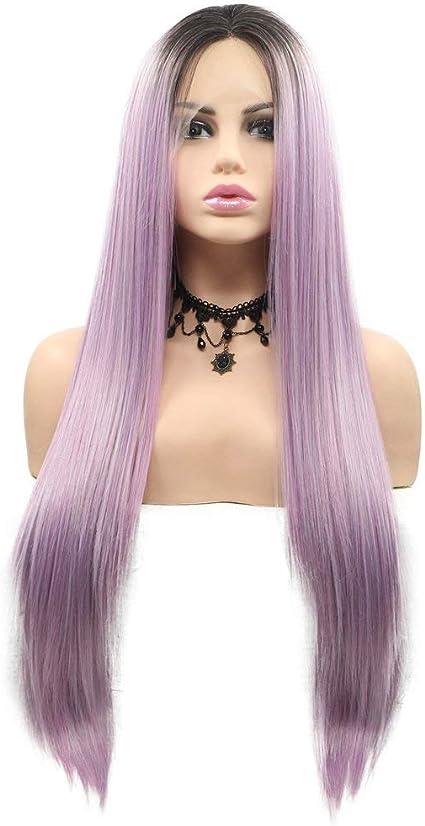 Kanekalon Peluca de pelo sintético pastel, mezcla sucia morada ...
