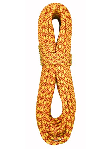 Double Dry Rope - Bluewater Ice Floss 7.7mm Climbing Twin Rope - Double Dry - Yellow/Red - 60m