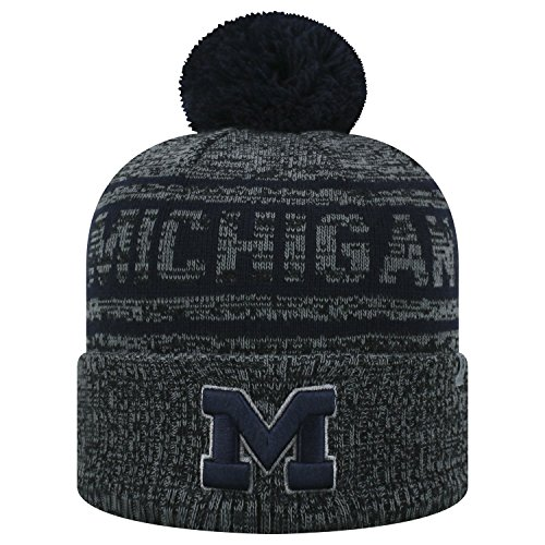 Top of the World Michigan Wolverines Official NCAA Cuffed Knit Sockit to Me Stocking Stretch Sock Hat Cap 468761