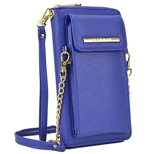 (Crossbody Bag Cell Phone Purse Wristlet Wallet Clutch with Credit Card Slots for Women (3020- Blue))