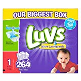 Health & Personal Care : Luvs Ultra Leakguards Diapers, One Month Supply, Size 1, 264 Count by Luvs