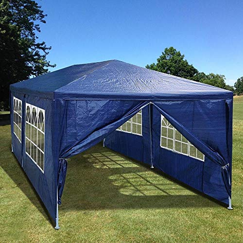 ANA Store Outside Sunshade Dinner Celebration Blue 10x20 Party Wedding Tent Canopy Outdoor Patio Gazebo Removable Wall Cater