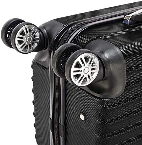 Black OASIS FOX 20 Inch Waterproof Hardside Spinner Luggage Expandable Suitcase with TSA Lock