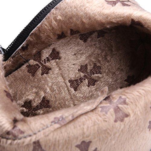 Ei&iLI Bottes pour dames chaussures talon Chunky Fashion a souligné Toe Boots Bottes de moto Rivets , black , 33
