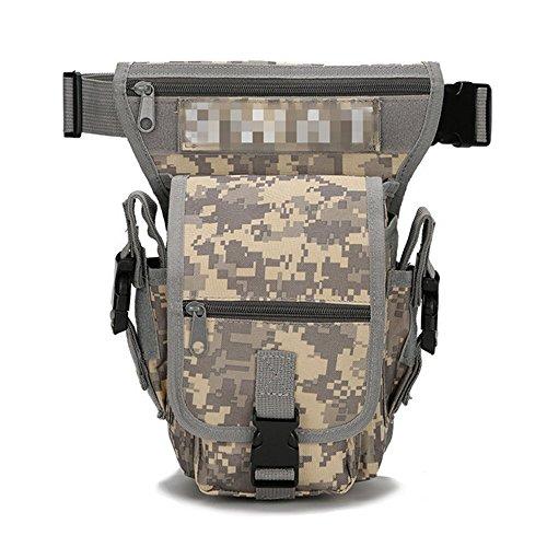 de pierna gris riñonera Bolsa de mano bolso bolsa cintura 5Ax56qpY