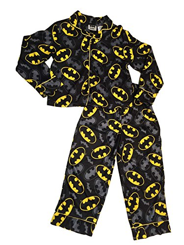 Batman Logo Flannel Big Boys Pajamas (SMALL (6/6X))