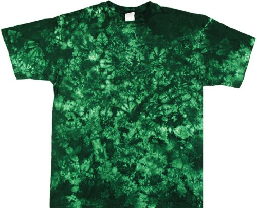 - Tie Dyed Shop Forest Green Crinkle Tie Dye T Shirt-4X-Multicolored