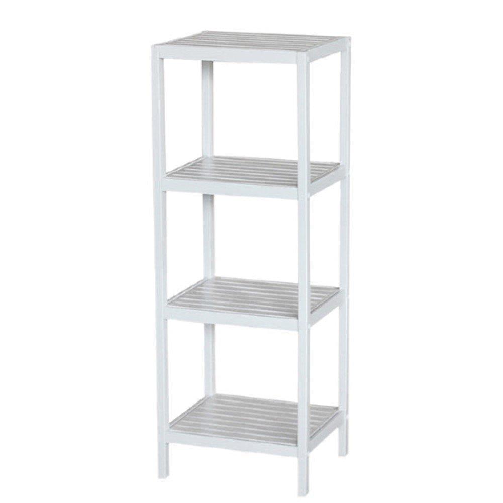 Spa 14.5'' x 40'' Bathroom Shelf, Free Standing Shelving (White)